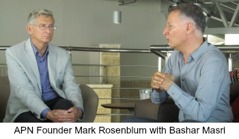 Mark Rosenblum with Bashar Masri