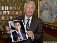 Nobel Committee Chairman with Picture of President Obama 186x140.jpg