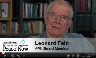 Video of leonard fein talking about Peace for Israel